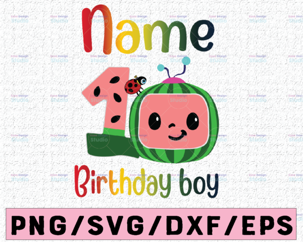 WTMETSY16122020 02 46 Vectorency Cocomelon Personalized Name Birthday Boy PNG SVG, Cocomelon Birthday SVG PNG, Cocomelon, Cocomelon Family Birthday PNG, Watermelon