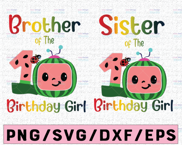 WTMETSY16122020 02 51 Vectorency Cocomelon Brother and Sister Of Birthday Girl SVG, Coco Melon SVG, Cocomelon Bundle SVG, Cocomelon Birthday SVG, Watermelon Birthday