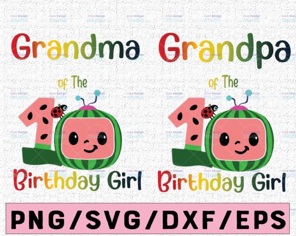 WTMETSY16122020 02 53 Vectorency Cocomelon Grandma and Grandpa Of Birthday Girl SVG, Coco Melon SVG, Cocomelon Bundle SVG, Cocomelon Birthday SVG, Watermelon Birthday