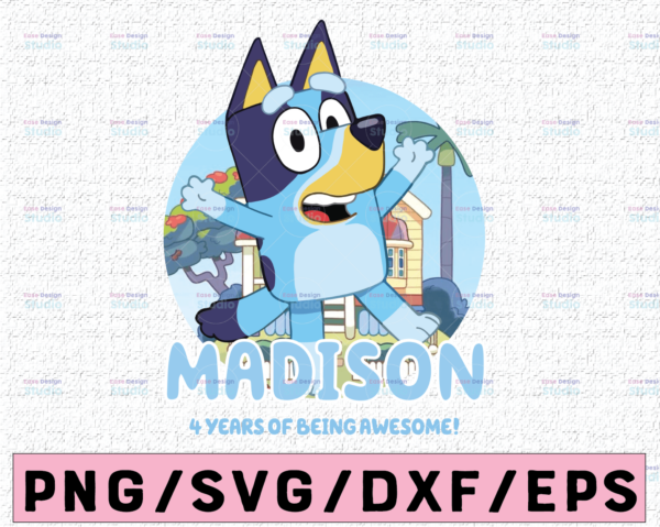 WTMETSY16122020 02 68 Vectorency Bluey and Bingo Personalized Name and Age PNG, Bluey Family PNG, Birthday Bluey PNG, Bluey Bingo