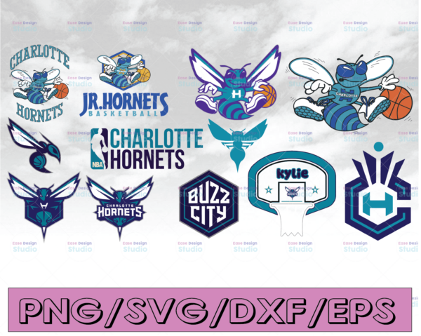 WTMETSY16122020 04 10 Vectorency Charlotte Hornets SVG Cut File, Stencil and Decal Files Logo for Silhouette, Cricut SVG, Cutouts, Basketball Decals Logo
