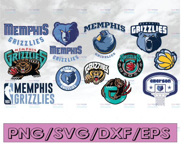 WTMETSY16122020 04 18 Vectorency NBA Memphis Grizzlies SVG Files, Clipart, Cut file Basketball SVG Sport logo SVG Vector DXF EPS PNG
