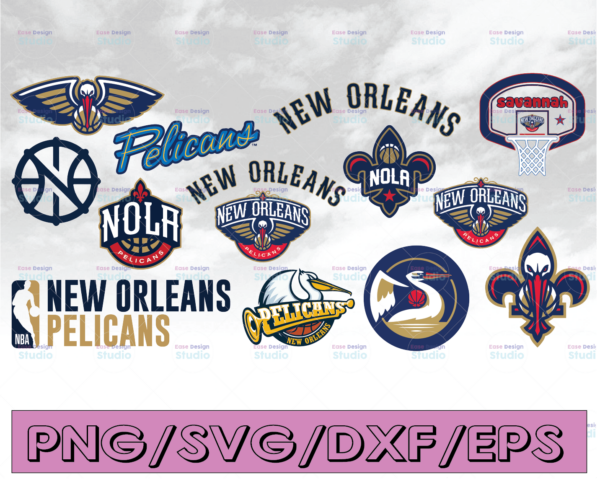 WTMETSY16122020 04 21 Vectorency NBA New Orleans Pelicans SVG, New Orleans Bundle SVG, Basketball SVG, PNG, DXF, EPS