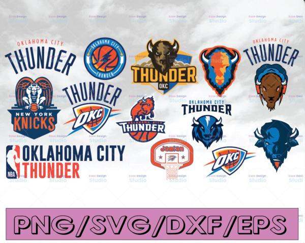 WTMETSY16122020 04 23 Vectorency NBA Oklahoma City Thunder, Oklahoma City Thunder SVG, Basketball Bundle SVG, PNG, DXF, EPS