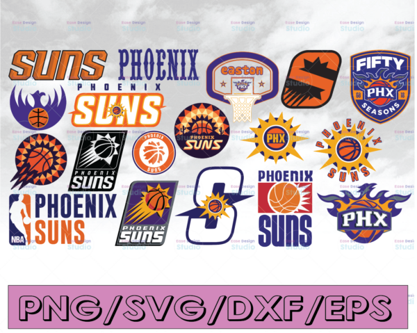 WTMETSY16122020 04 25 Vectorency NBA Phoenix Suns, Phoenix Suns SVG, Basketball Bundle SVG, PNG, DXF, EPS