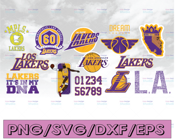 WTMETSY16122020 04 4 Vectorency Lakers SVG - Kobe SVG - LA Lakers SVG - Los Angeles Lakers SVG - File For Cricut Design Studio and Silhouette