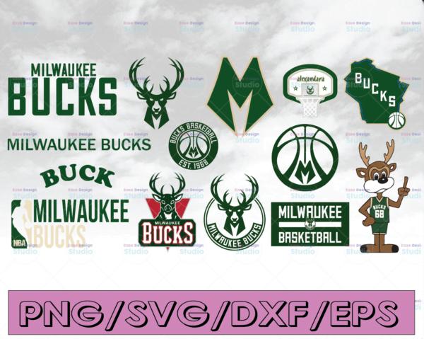WTMETSY16122020 04 7 Vectorency Milwaukee Bucks SVG, Cut File, Stencil and Decal Files Logo for Silhouette, Cricut ,SVG, Cutouts, Basketball Decals Logos, Bucks SVG, Buck SVG