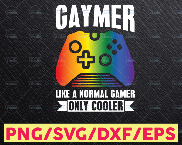 WTMETSY16122020 05 25 Vectorency Gaymer The Rainbow LGBT Pride SVG, Video Gamer LGBT SVG Digital Art, Digital Download, Sublimation Graphics