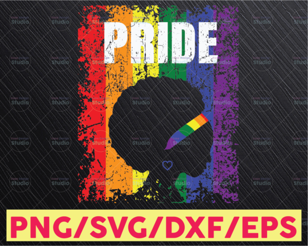 WTMETSY16122020 05 26 Vectorency LGBT Afro Love Sublimation PNG File, LGBTQ Pride Month, Sublimation Design Digital Download, Rainbow Sublimate PNG