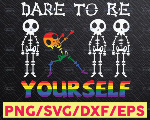 WTMETSY16122020 05 30 Vectorency Skeleton Dabbing Dare To Be Yourself Autism SVG, Awareness SVG, Autism SVG, Autism Awareness SVG, Skeleton Dabbing SVG, Autism Love SVG
