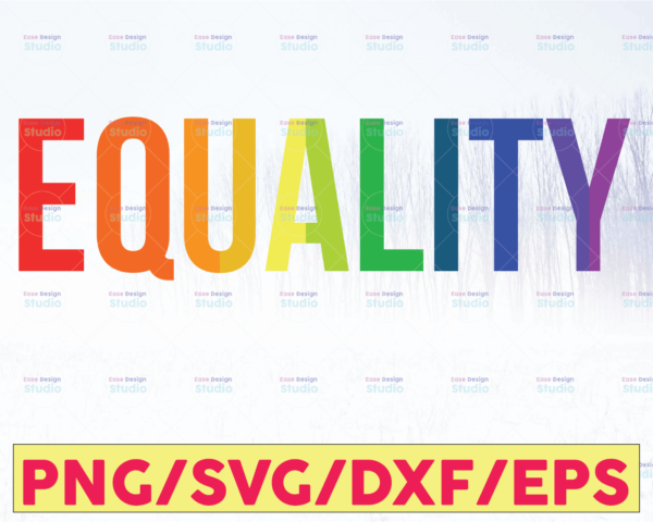 WTMETSY16122020 05 35 Vectorency Pride SVG, Equality Pride Inclusion Rainbow Retro Stacked Words, LGBTQ Pride BIPOC Trans, Cut File, Laser File and Sublimation File