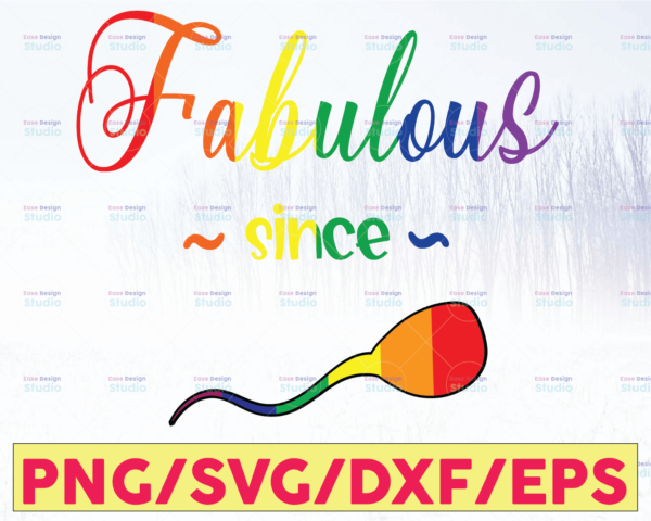 WTMETSY16122020 05 37 Vectorency Fabulous Since Bundle SVG - LGBTQ svg svg Equality download | Gay sign cricut | Rainbow personal | Rainbow svg