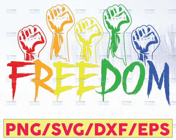 WTMETSY16122020 05 39 Vectorency Freedom, Rainbow Hand SVG, LGBT SVG, LGBTQ, Pride SVG, Rainbow Pride, Gay Pride, Cut Files, Cricut, Silhouette, Rainbow Drip Paint, PNG