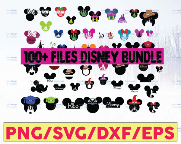 WTMETSY16122020 05 51 Vectorency Disney SVG Bundle, Mickey SVG, Minnie SVG, Disney SVG, Disney Monogram Frames SVG, Disney SVG Files for Silhouette Cameo or Cricut