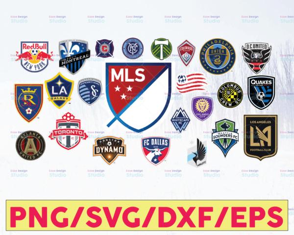 WTMETSY16122020 05 56 Vectorency MLS Soccer League Logo SVG Bundle Vector Printable Logo Cut Files Clipart Digital Download Silhouette, EPS, DXF, PNG, PDF