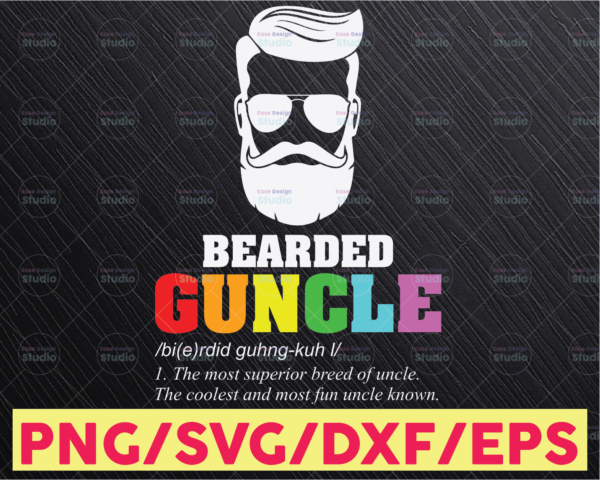 WTMETSY16122020 05 6 Vectorency Guncle Like A Dad But So Much Cooler SVG, LGBT Uncle SVG, Rainbow, Gay