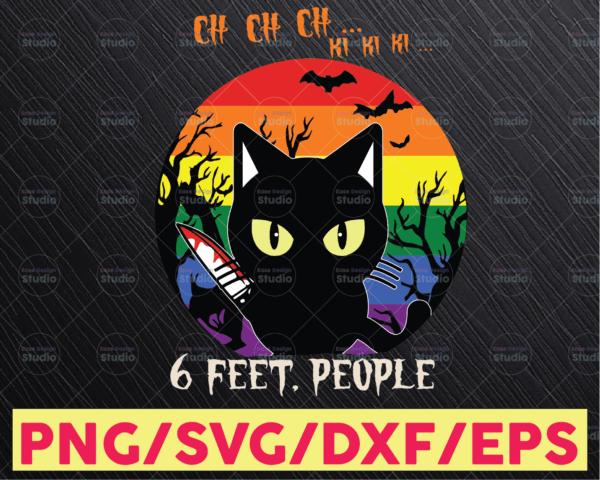 WTMETSY16122020 05 Vectorency Murder Cat - Ch Ch Ki Ki- Crazy Black Cat SVG, Funny - Meme - Cricut - Cut File - Sublimation
