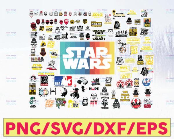 WTMETSY16122020 05 64 Vectorency Star Wars SVG, Star Wars Bundle SVG, Star Wars Characters SVG, Star Wars DXF Cut Files, Star Wars Clipart, Rebel Alliance, Galactic Empire