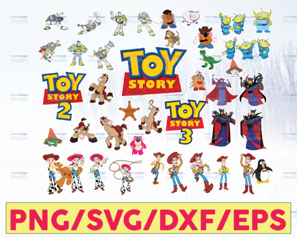 WTMETSY16122020 05 66 Vectorency Toy Story SVG, Toy Story Bundle SVG, Toy Story Characters SVG, Toy Story DXF Cut Files, Toy Story Clipart, Toy Story Party