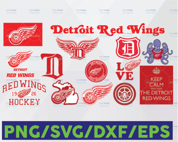 WTMETSY16122020 06 10 Vectorency Detroit Red Wings SVG, Red Wings SVG, NHL SVG, Hockey Cricut, Download - Cut File, Clipart -Cricut Explorer -Silhouette Cameo, Hockey Logo SVG