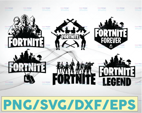 WTMETSY20052021 10 1 Vectorency Fortnite Bundle SVG, Fortnite SVG, Fortnite SVG PNG Cut File, Cricut cut file, Printable artwork, Vector logo clipart Download