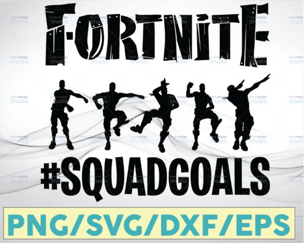 WTMETSY20052021 10 19 Vectorency Fortnite Squad Goals SVG, Fortnite svg, Fortnite SVG PNG Cut File, Cricut cut file, Printable artwork,Vector logo clipart Download