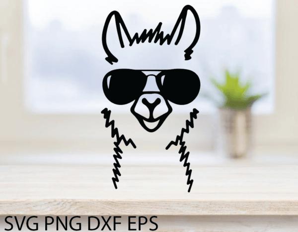 ac2nacy 01 6 Vectorency Llama Aviator Sunglasses SVG, Llama SVG, Llama Cricut, No Drama Llama SVG, Funny Llama SVG, Funny Llama Cricut, Llama SVG File, Alpaca SVG