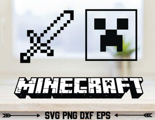 ac2nacy 01 Vectorency Minecraft, Eat Sleep Mine, Game SVG, Creeper SVG, Craft SVG, Pig SVG, Popular, Cricut, Cut Files, Bundle PNG, Steve, Gamer SVG, Game Room Decor, Vector