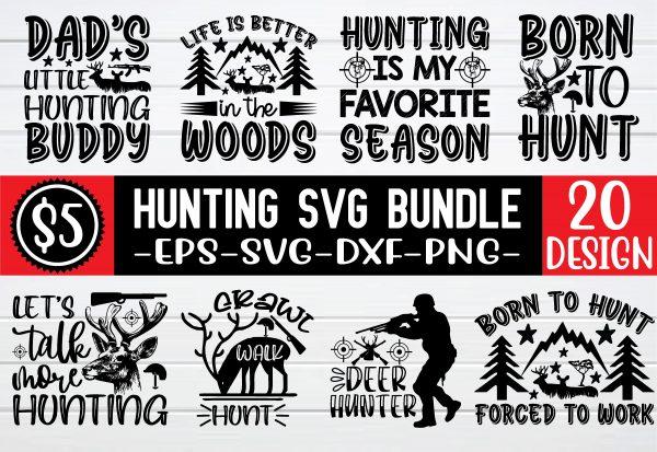bundle pew 01 2 Vectorency Hunting SVG Bundle Vol 4