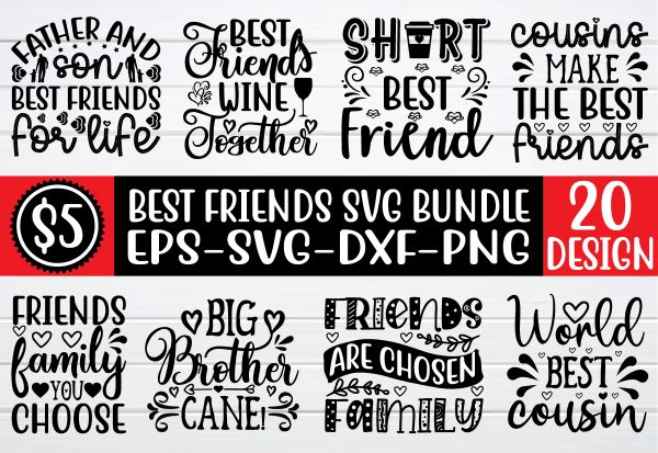 bundle pew 01 Vectorency best friend svg bundle