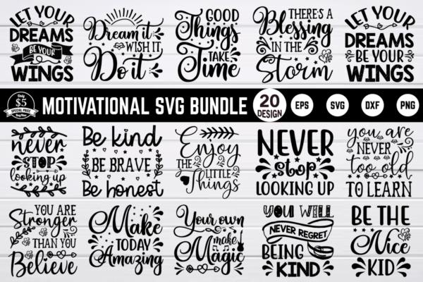 bundle pew2 Vectorency Motivational SVG Bundle Vol 1