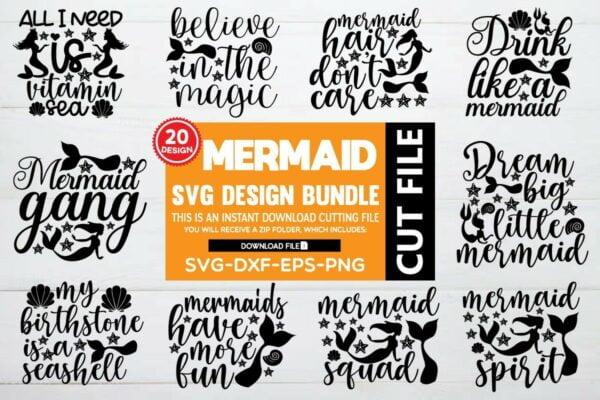 bundle pre 1 Vectorency Mermaid SVG Bundle Vol 3