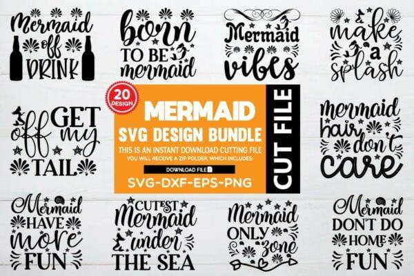 bundle pre mojnu 222 Vectorency Mermaid SVG Bundle Vol 1