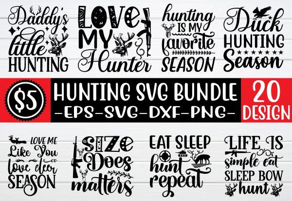 bundlepreview 01 Vectorency Hunting SVG Bundle Vol 5