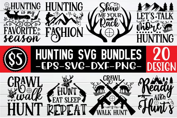 hunting 01 Vectorency Hunting SVG Bundle Vol 3