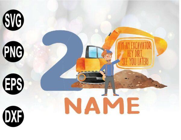 wtm 01 37 Vectorency Blippi Birthday Shirt, Blippi Personalized Birthday Excavator Shirt
