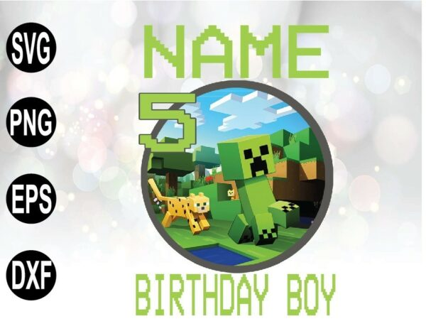 """wtm 01 43 Vectorency Birthday Shirt """"Minecraft"""", Personalized Shirt, Personalized Gifts"""