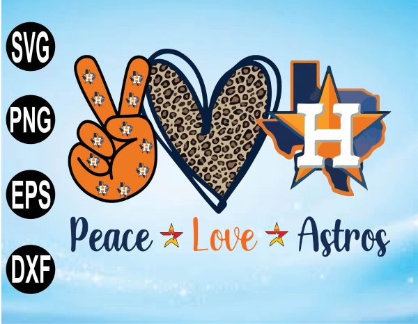 wtm 01 5 Vectorency Peace Love Astros SVG Cut File, Houston Astros SVG, Astros Baseball, Houston Baseball, Astros Logo, Leopard Heart, MLB Team, Layered SVG EPS PNG DXF