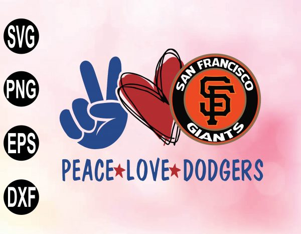 wtm 02 17 Vectorency Peace love with San Francisco Giants SVG, MLB Team, SVG, PNG, EPS, DXF