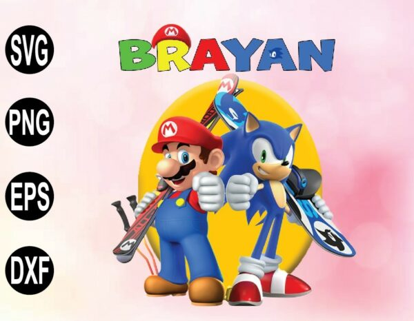 wtm 02 46 Vectorency Sonic vs Mario Birthday PNG, File Sonic vs Mario Theme Party PNG, File Raglan PNG, File Personalized SVG, PNG, svg, png, eps, dxf