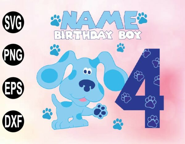 wtm 02 47 Vectorency Blues Clues Birthday SVG, PNG, File, Blue Dog Family SVG, PNG, DXF File, Blue Dog Family Matching Birthday SVG, PNG
