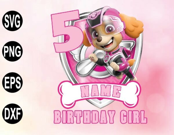 wtm 02 49 Vectorency SKYE Paw Patrol Birthday PNG, File Paw Patrol Unisex Party PNG, File Ryder Chase Raglan PNG, File all sizes personalized PNG, File gift birthday PNG, File PNG