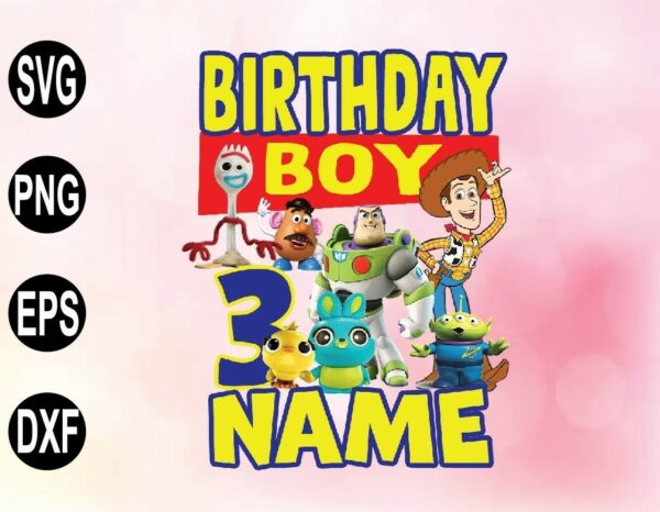 wtm 02 51 Vectorency Toy Story Birthday PNG, File - Toy Story Boy's Birthday PNG, File - Toy Story Name PNG, File
