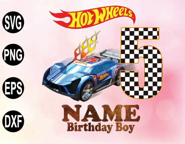 wtm 02 55 Vectorency Hot Wheels Birthday PNG, File with Custom Name and Age, Hot wheels birthday boy/girl, Hot wheels birthday gift,Hot wheels birthday family png file