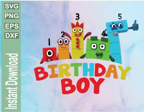 wtm 03 21 Vectorency Numberblocks Birthday Boy Design, Boy Birthday PNG File for Boys Birthday PNG