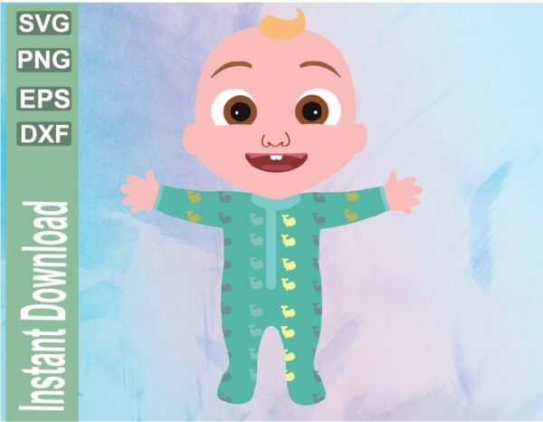 wtm 03 24 Vectorency Cocomelon Baby Birthday SVG, PNG, Baby Tv Birthday Party
