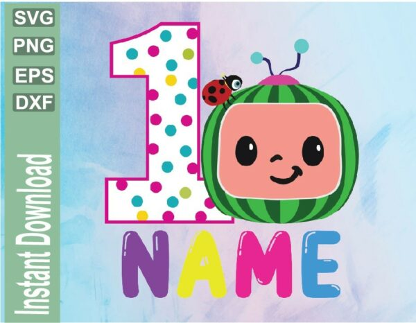 wtm 03 26 Vectorency Cocomelon Personalized Birthday svg file, Cocomelon Birthday SVG, Cocomelon Family svg, Watermelon, Cocomelon Custom svg, birthday file