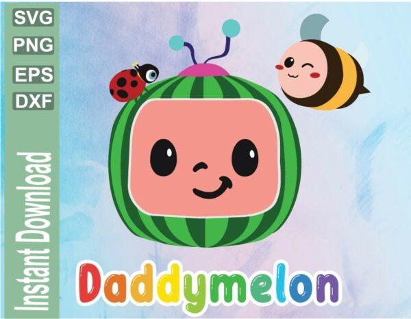 wtm 03 27 Vectorency Cocomelon Dady Birthday SVG File, Cocomelon Family Dady Birthday SVG File , Watermelon Birthday, Birthday SVG