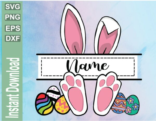 wtm 03 39 Vectorency Easter Bunny PNG, Bunny Frame, Bunny Name, Happy Easter, Rabbit Easter, Bunny Frame, Monogram Frame, Sublimated Printing/INSTANT DOWNLOAD
