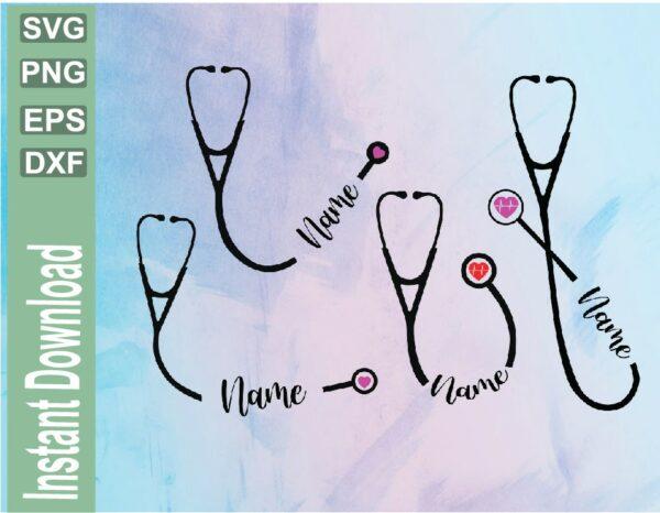 wtm 03 40 Vectorency Stethoscope SVG, Nurse SVG, Personalized Stethoscope SVG, Stethoscope Name svg, Heartbeat Stethoscope svg, Doctor svg,Nurse Name svg, dxf